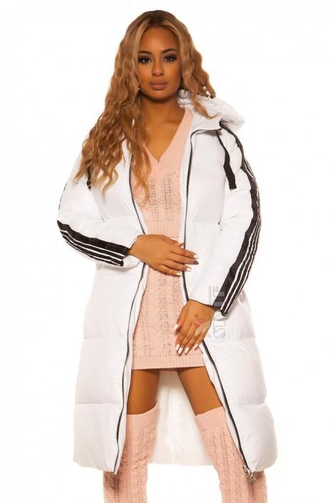 Зимняя удлиненная куртка на молнии M2143 (112143)