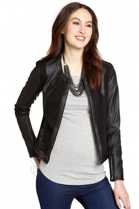 Жіноча шкіряна куртка з кашеміровими вставками купити недорого в ... 47e964b740552