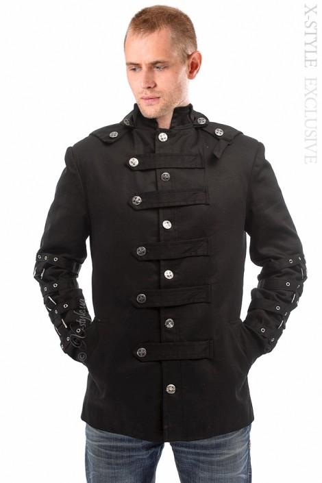 Зимняя мужская куртка с капюшоном (206106)