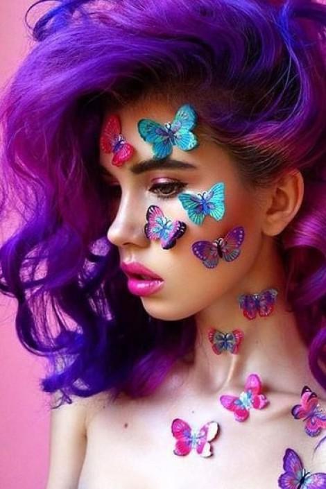 Фиолетовая усиленная краска для волос Ultra Violet (ACR91031)