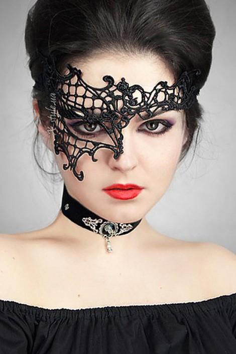 Асимметричная кружевная маска Artistic (901008)