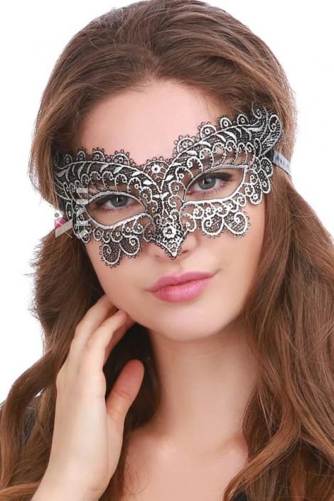 Ажурная серебристая маска Artistic (901040)