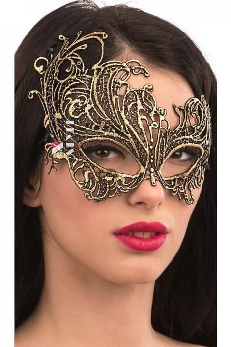 Золотистая карнавальная маска Artistic (901044)