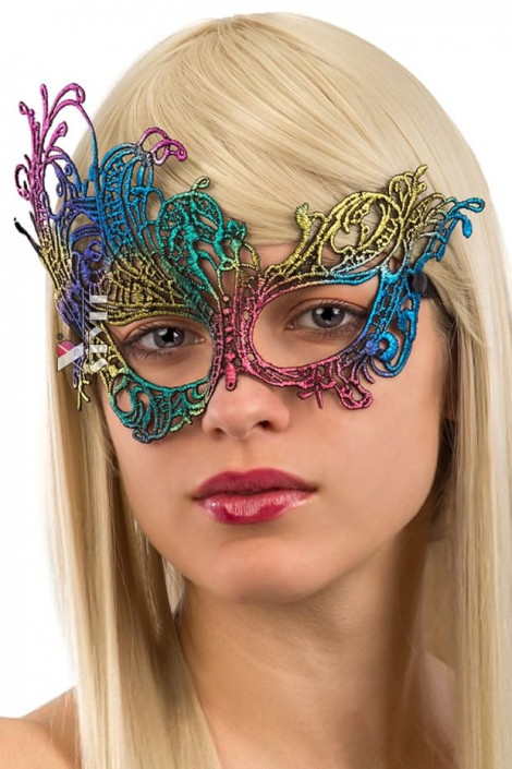 Разноцветная карнавальная маска A1045 (901045)