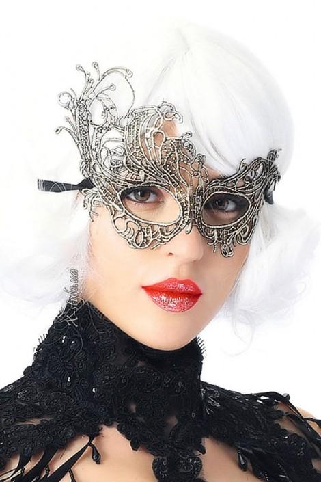 Карнавальная серебристая маска CC1069 (901069)