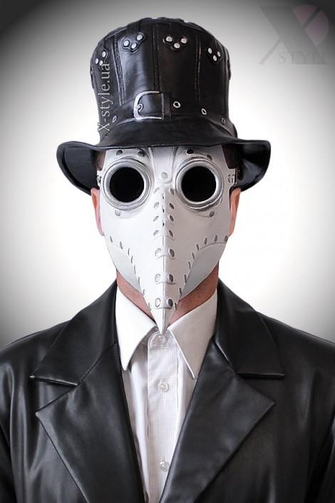 Белая маска чумного доктора XA1072 (901072)