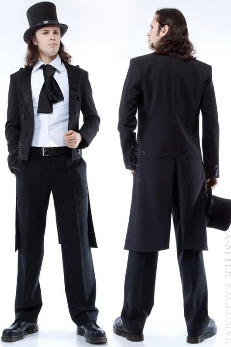 Мужской фрак с жилеткой, манишкой и шарфом (205001)