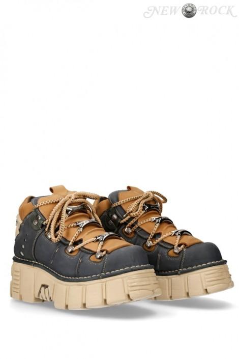 Кожаные кроссовки на платформе Alaska Marino (106-C73-MARINO)