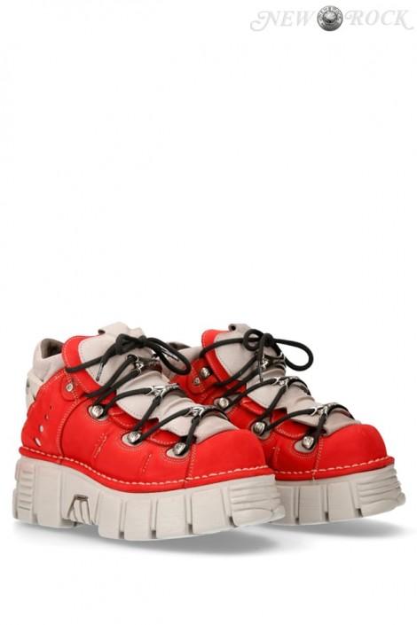 Красные кроссовки из нубука 106-C72 (M106-C72)