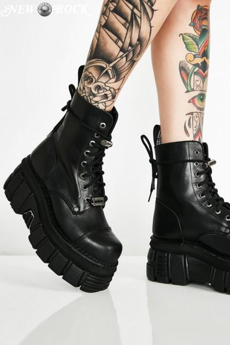 Кожаные ботинки на платформе NEW08321 (NEWMILI083-S21)