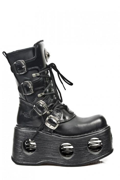 Ботинки с пружинами в платформе (373-S2)