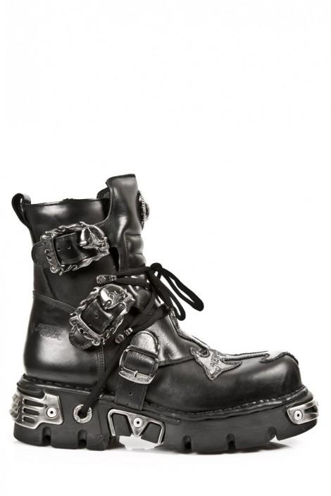 Ботинки с черепами и крестом (407-S1)