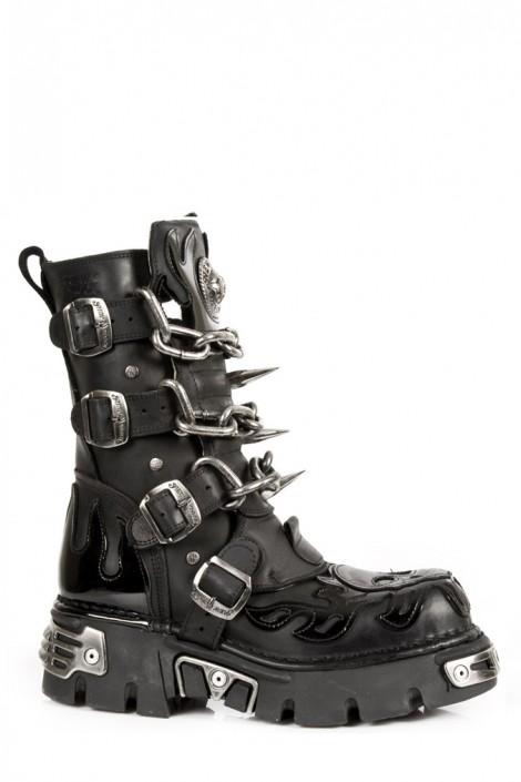 Ботинки с цепями и шипами (727-S1)