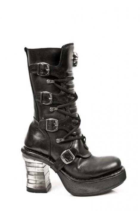 Ботинки на устойчивом каблуке (8373-S1)