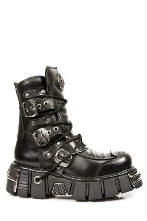 Ботинки с пряжками на платформе (987-C1)
