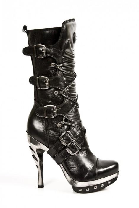Шкіряні чоботи з пряжками жіночі купити недорого в Києві 138322c7011b7