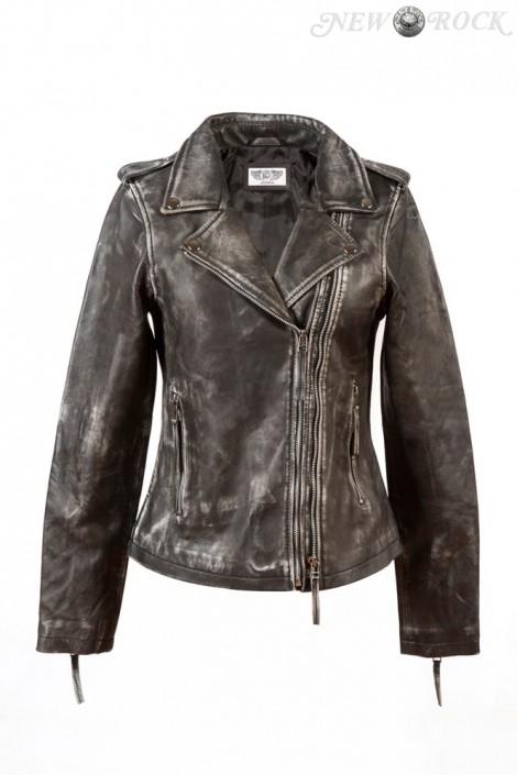 Женская куртка из натуральной винтажной кожи J015S1 (112031)
