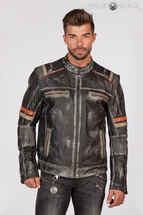 Мужская куртка из натуральной кожи New Rock (206109)