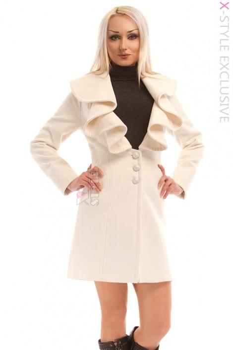 Элегантное кашемировое пальто X-Style (114031)