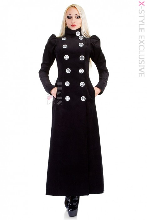 Длинное шерстяное пальто (весна-осень) X4054 (114054)
