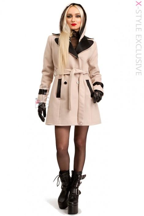 Зимнее пальто с капюшоном 115047 (115047)