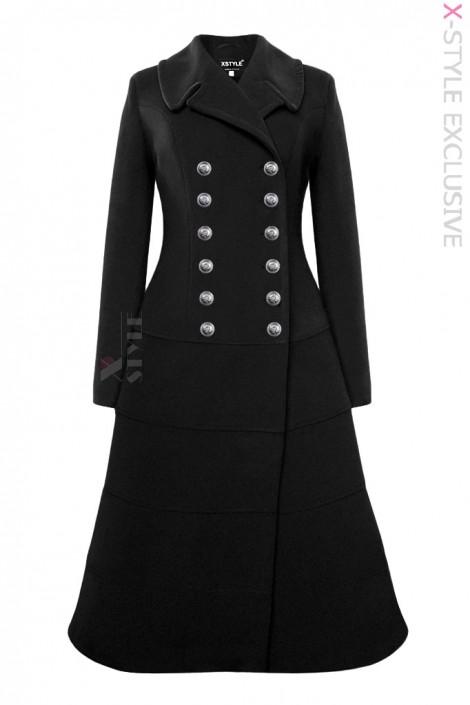 Винтажное зимнее шерстяное пальто X5078 (115078)
