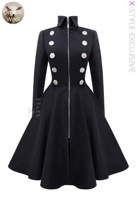 Шерстяное пальто в стиле Ретро Xstyle (114056)