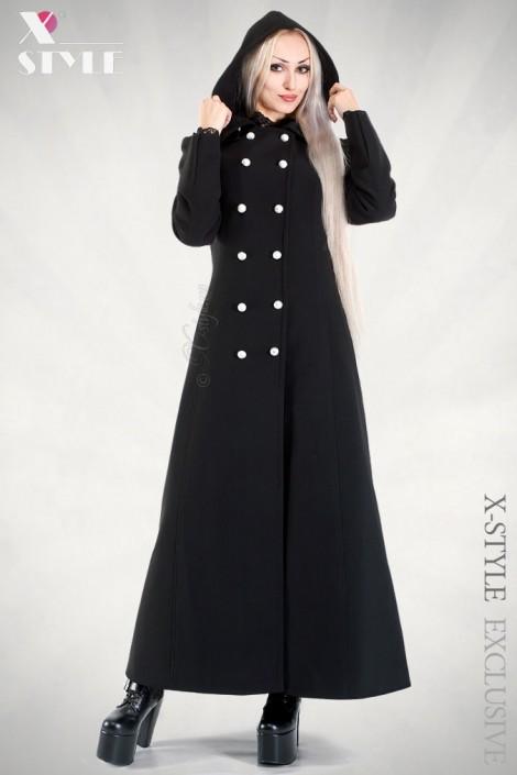 Длинное пальто с капюшоном X-Style (115011)