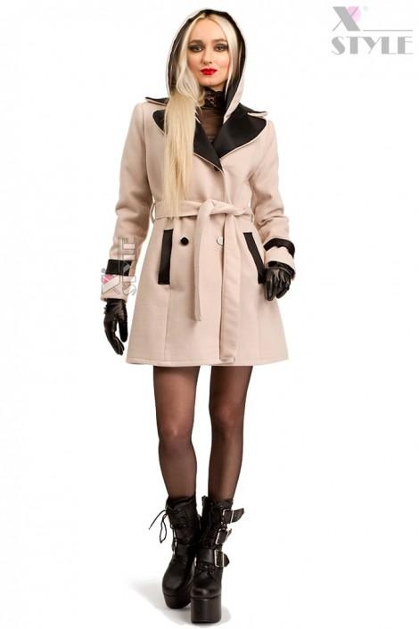 Кашемировое зимнее пальто с капюшоном 115047 (115047)