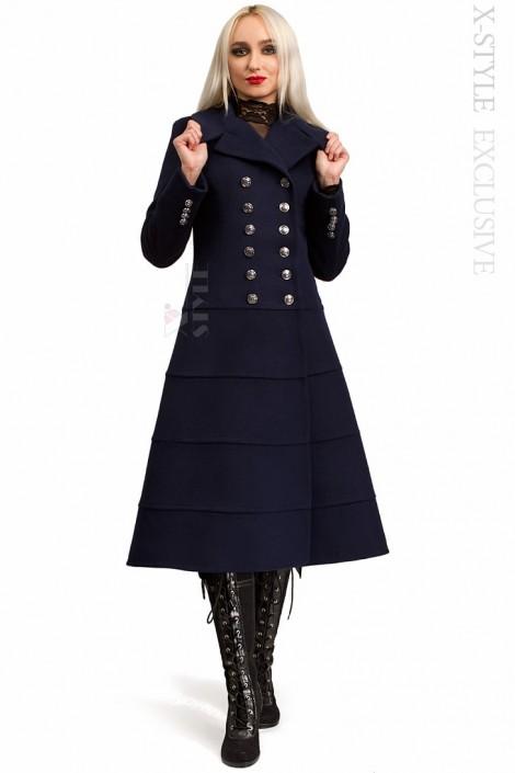 Вовняне зимове пальто жіноче X5060 купити недорого в Києві c75cc2d2dd6d3