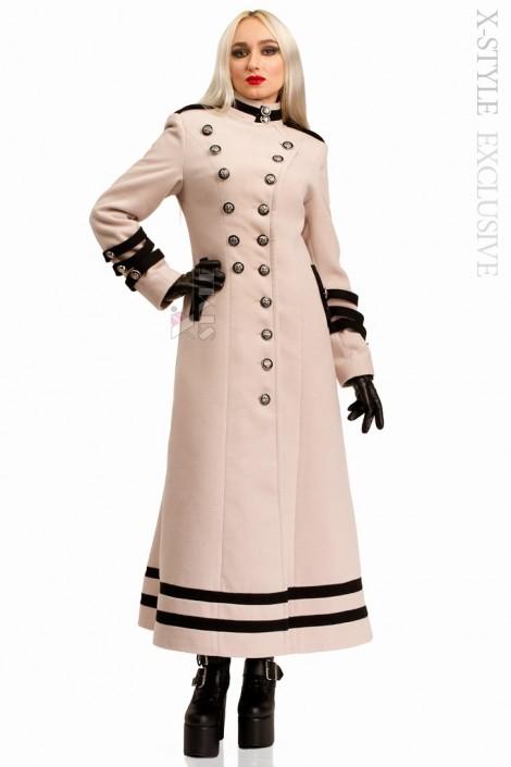 Длинное кашемировое пальто X5062 (115062)