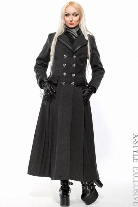 Длинное двубортное пальто женское X-029 (115029)