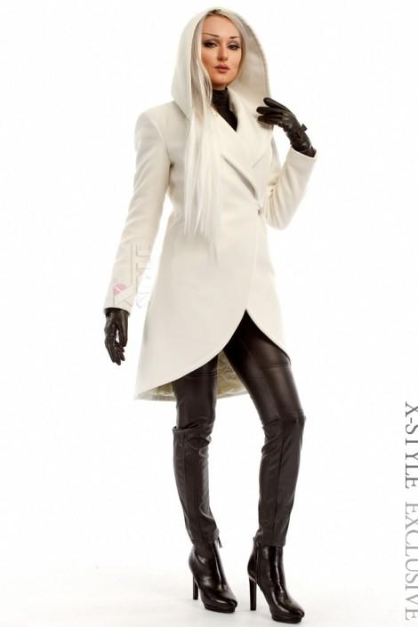 Элегантное зимнее пальто из кашемира X-Style (115046)