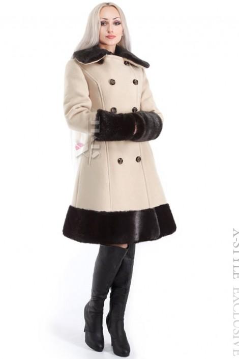 Зимнее приталенное кашемировое пальто X-Style (115020)