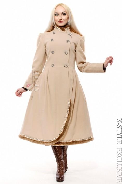Женское зимнее кашемировое пальто X-Style (115038-2)