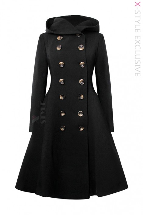 Зимнее пальто с капюшоном X15052 (115052)