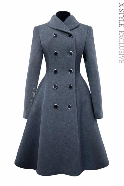 Зимнее пальто из натуральной шерсти 115054 (115054)