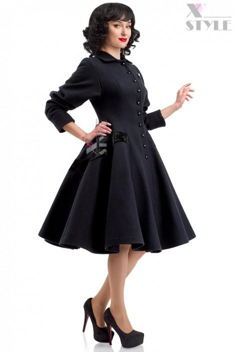 Винтажное пальто из натуральной шерсти X-Style (114043)