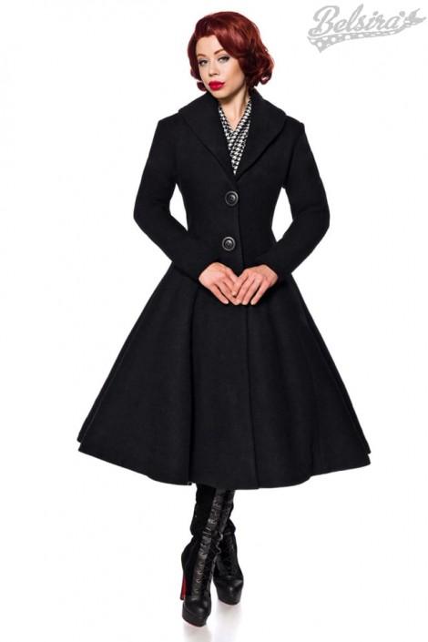 Винтажное длинное пальто из шерсти Belsira (114045)