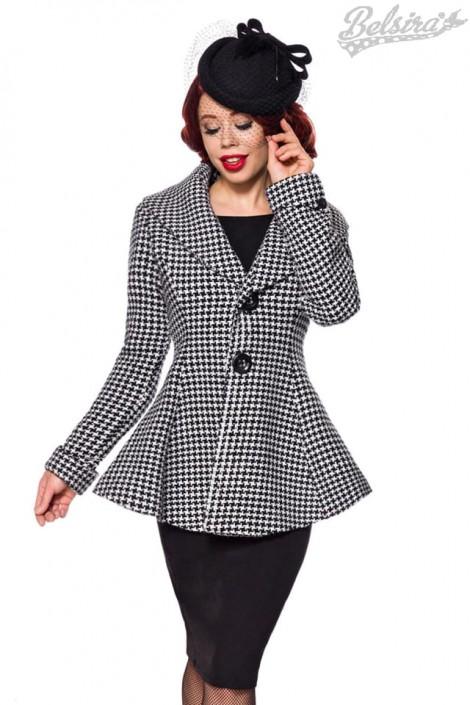 Винтажное пальто с баской (114051)
