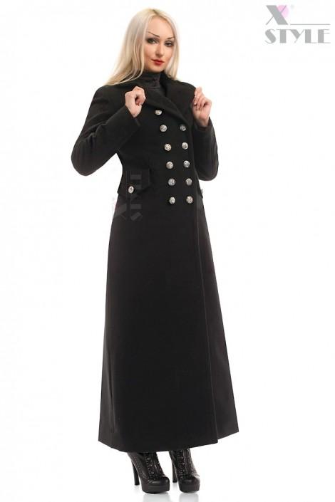 Длинное женское полушерстяное пальто X-Style (115068)