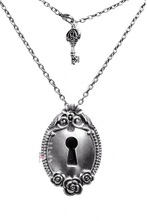 Оловянный кулон-брошь с цепочкой (712012)