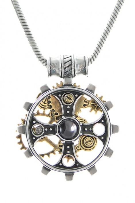 Кулон Foundryman`s Ring Cross (ручная работа) (AGP606)