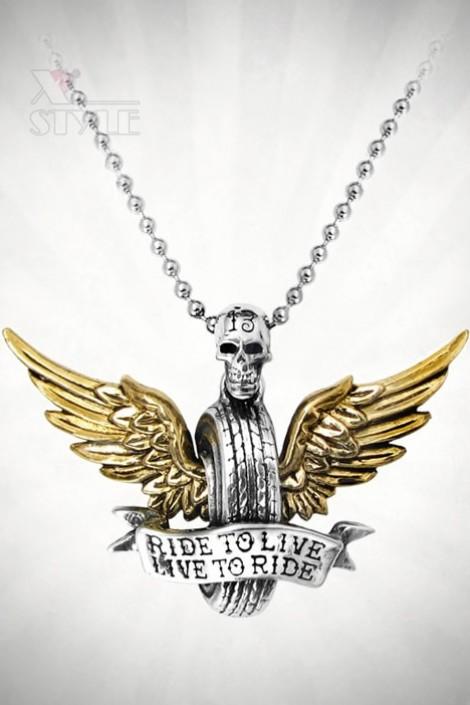 Кулон Ride To Live (ручная работа) (AGULP30)
