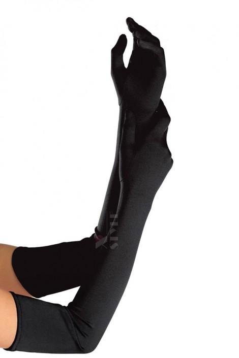 Длинные черные перчатки XA1078 (601078)