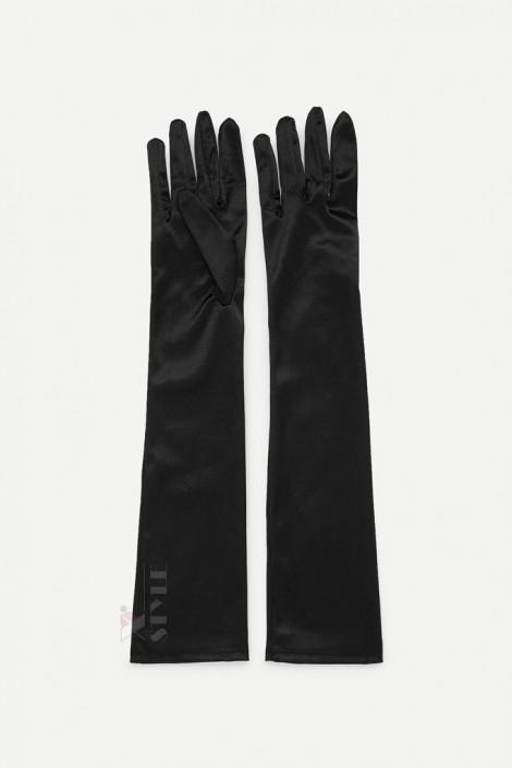 Длинные атласные перчатки A1171 (601171)
