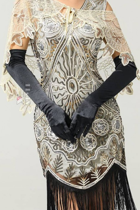 Длинные перчатки в стиле Ретро U1179 (601179)