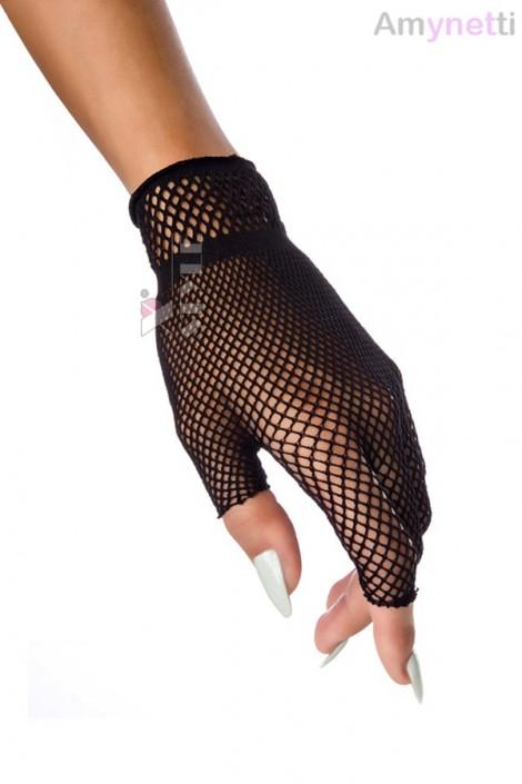 Короткие перчатки-сетка Amynetti (601142)