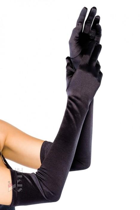 Длинные атласные перчатки Amynetti (601146)