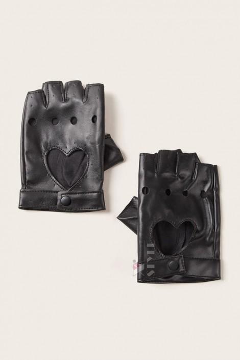 Женские кожаные перчатки без пальцев X1181 (601181)